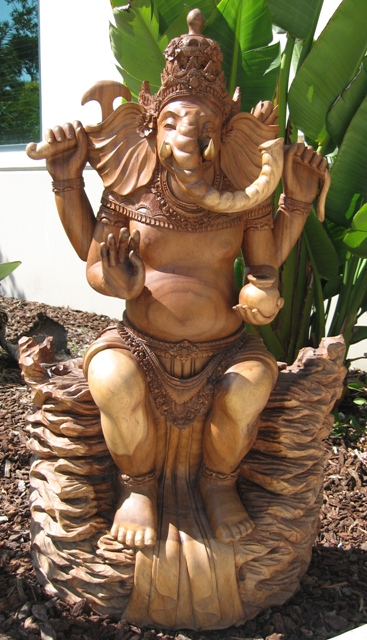 seated  ganesh warrior god from Bali