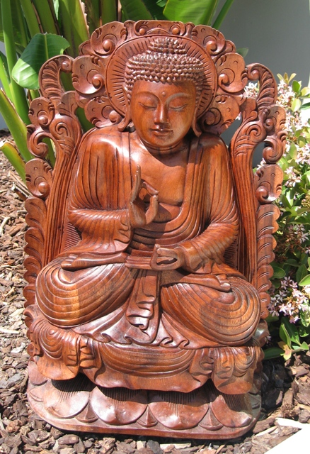 Hand Carved Buddha from Bali