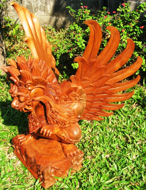 hand carved garuda from bali