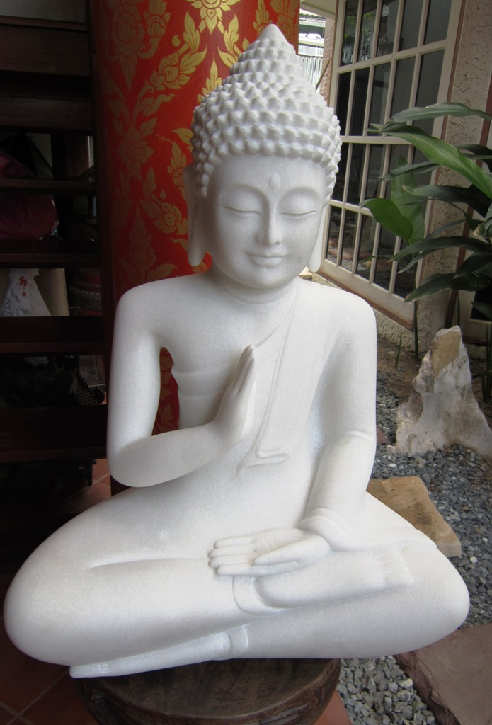 Hand Carved Marble Buddha from Vietnam