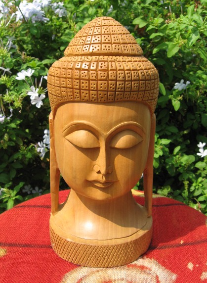 Hand Carved Large Buddha Head