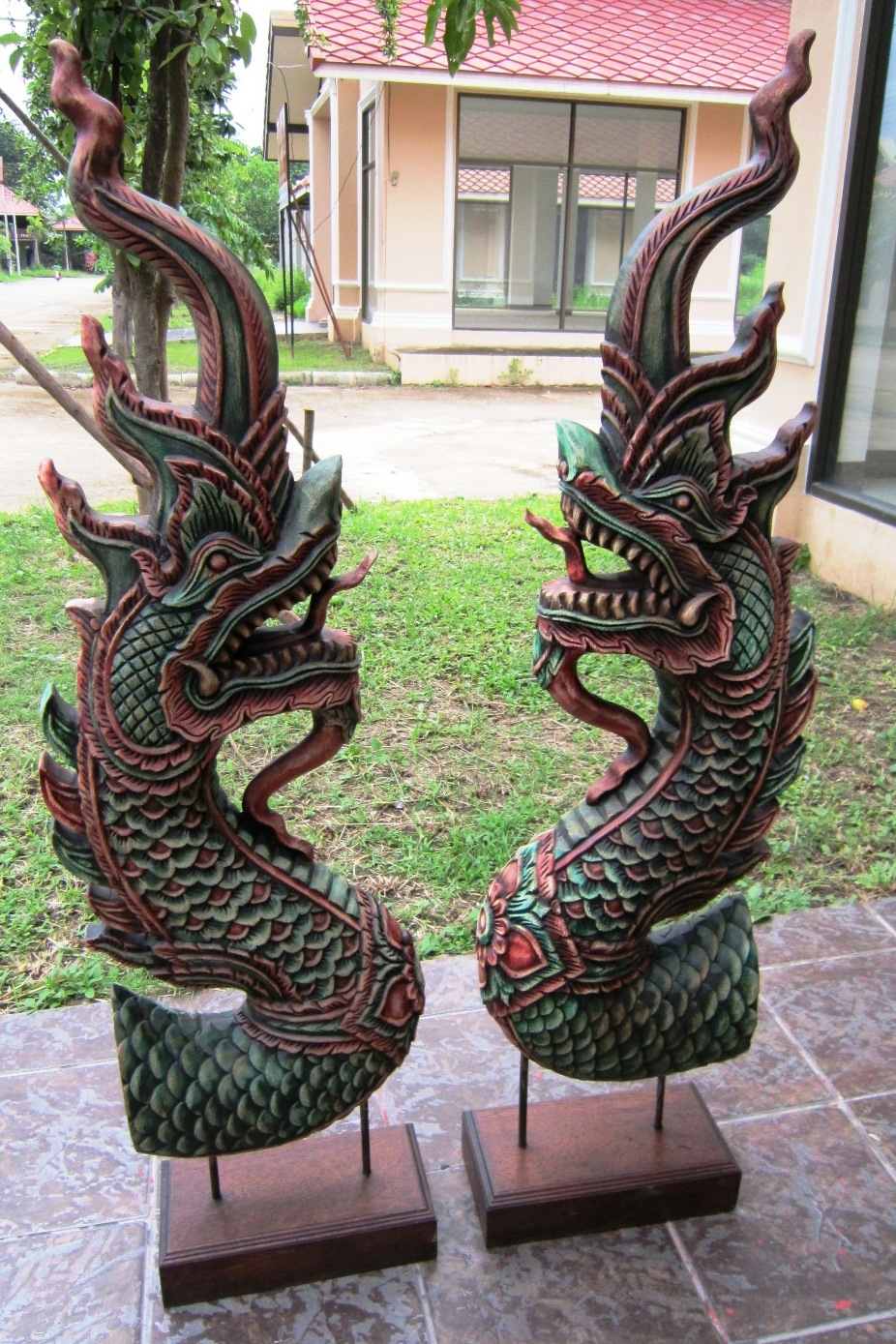 Pair of Naga Heads