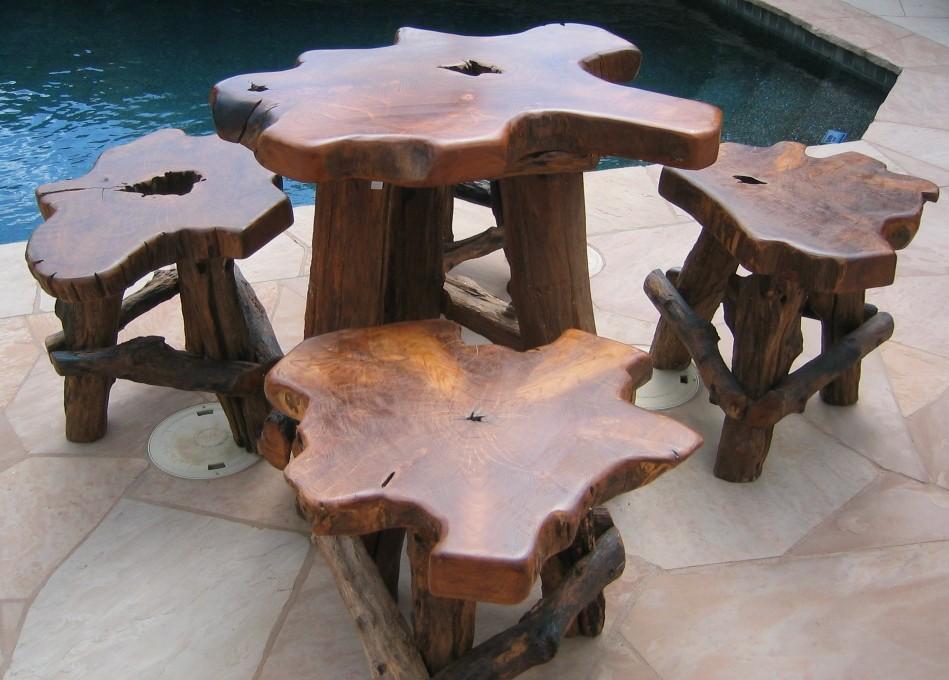 Hand Carved Furniture Set