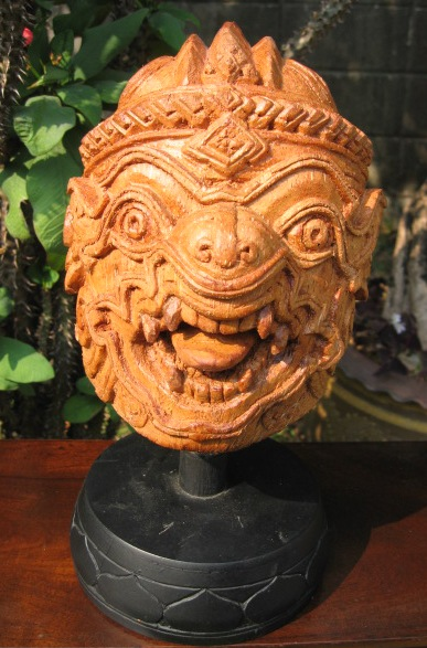 Hand Carved Meatless Coconut Hanuman Monkey God