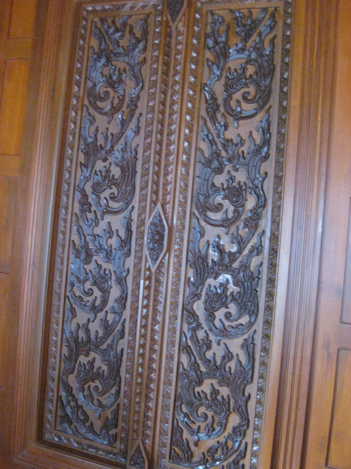 hand carved teak door
