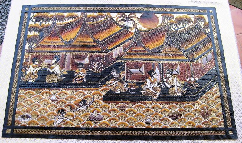 Thai Houses Village Hand Carved Leather