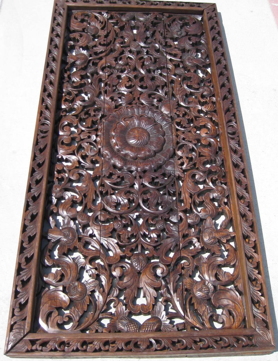 3'x6' Teak Wood Panel Oak Finish