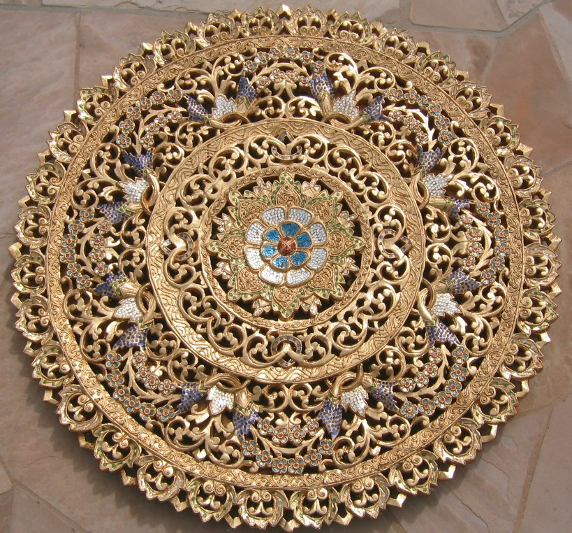 3ft round 24kt gold leaf