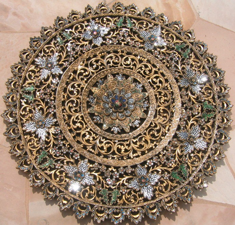 3ft Antique Gold Round Panel