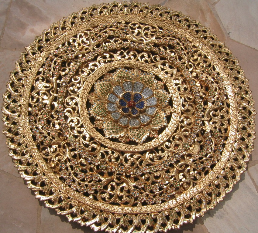 3ft Round Gold Leaf Panel