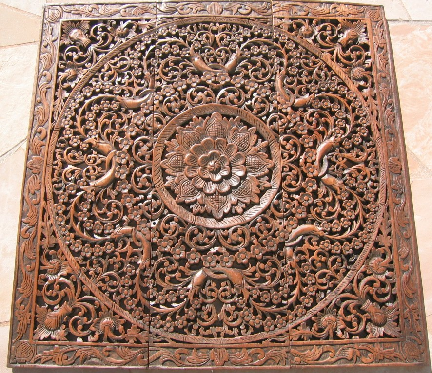 Teak Wood Paneling ~ Three feet thai teak wood panel