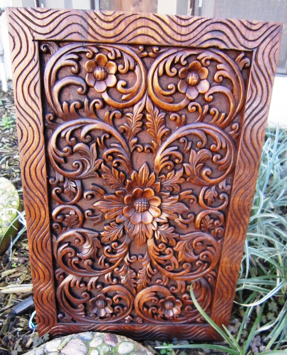 "12"" x 18"" Solid Teak Wood Panel"