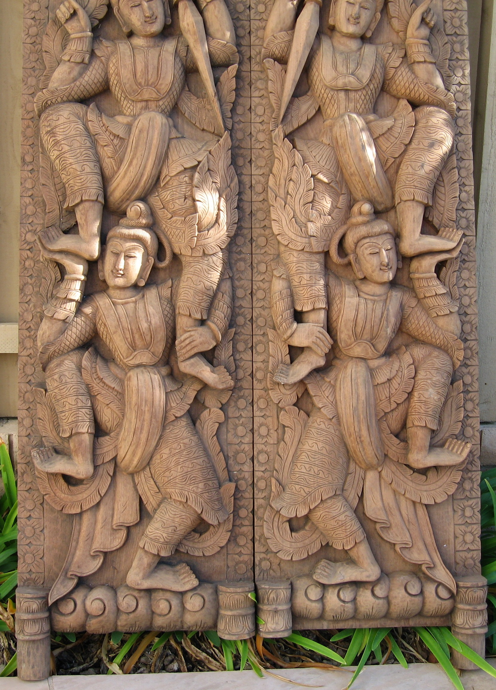 Teak wood doors wdglt