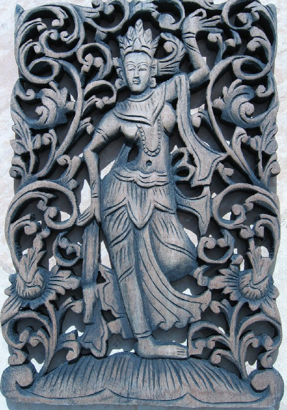 Thai Angels Teak Panel