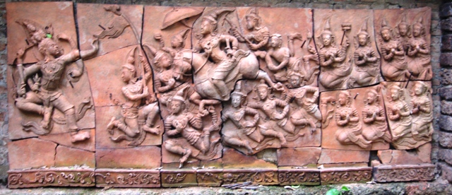 Hand Carved Terra Cotta Panel