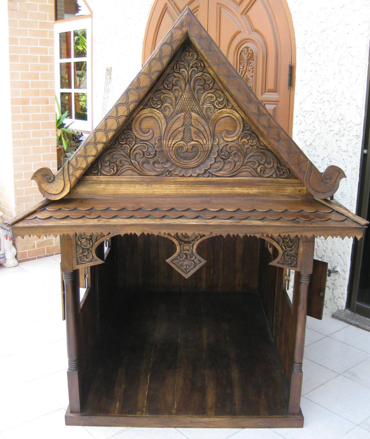 Traditional Thai Teak Dog House, Cat House and Doll House