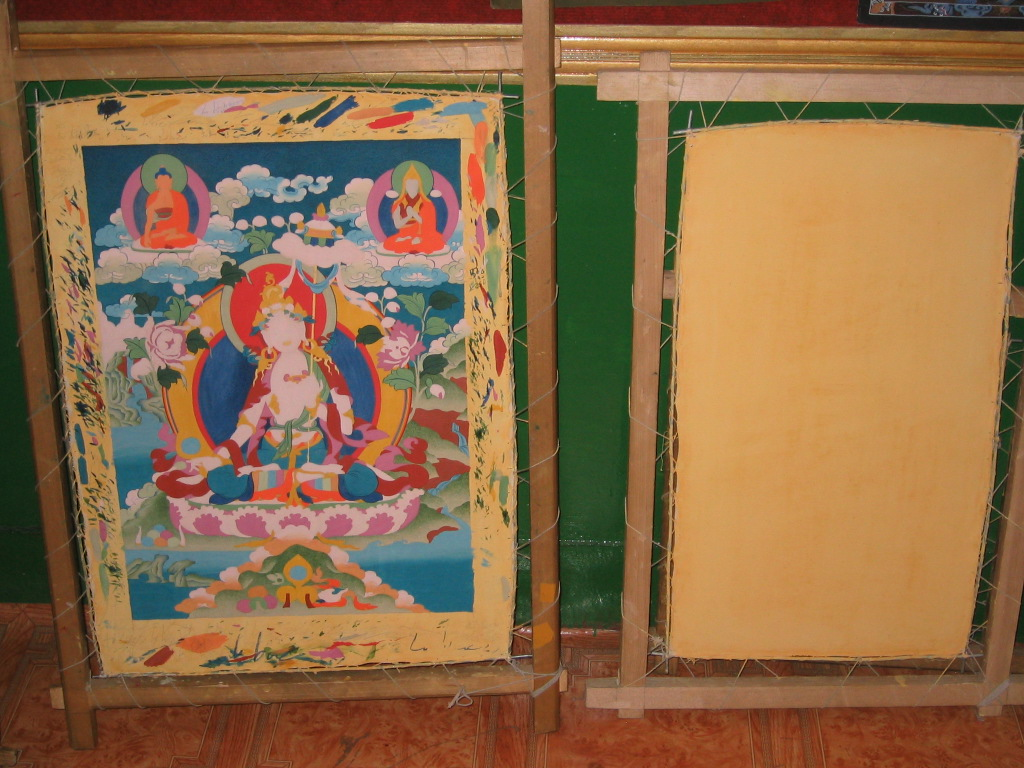 Tibetan Thangka Workshop Thangka in Progress